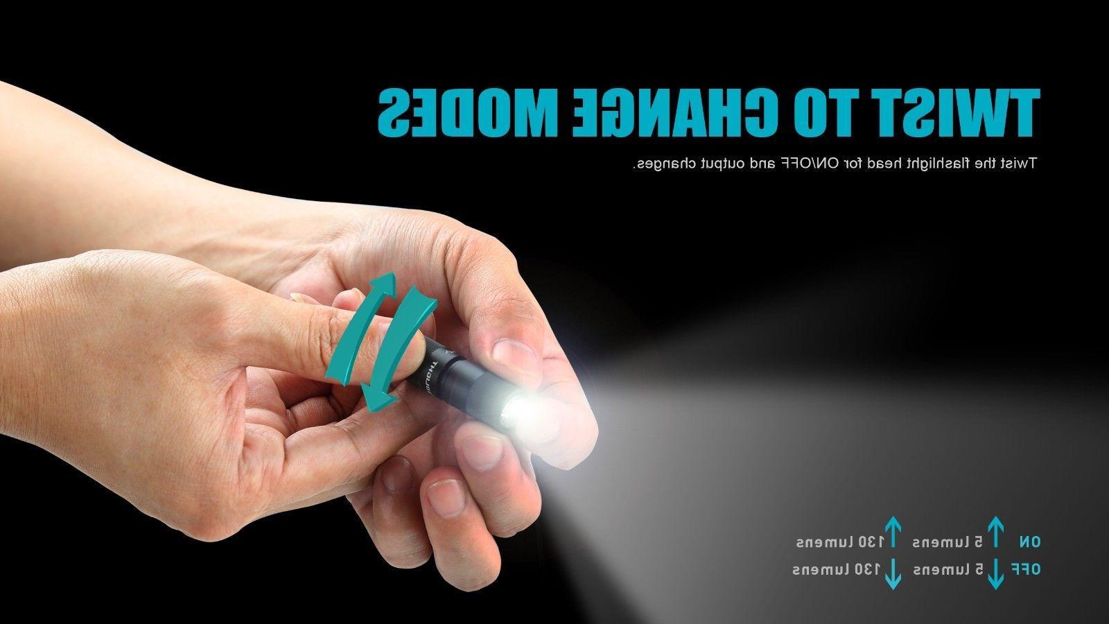 Olight 130 Lumens 2 USB Rechargeable LED Keychains Flashlight