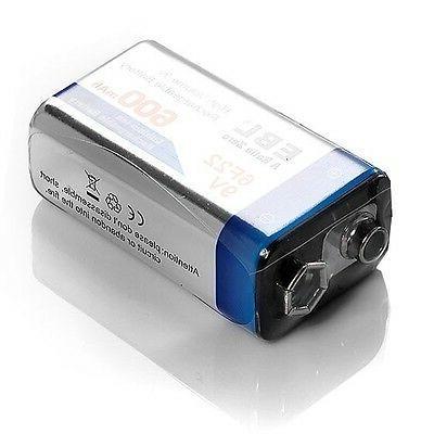 EBL 9V Li-ion Rechargeable Battery