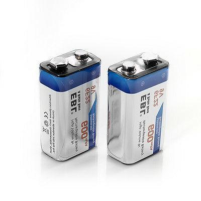 EBL 4Packs 9V Rechargeable Battery