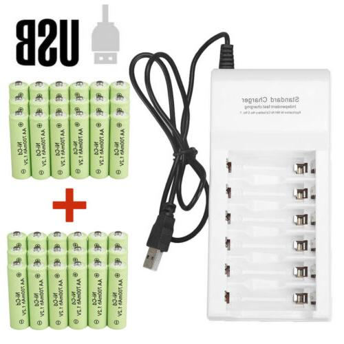 Lot AA Rechargeable Battery NiCd 700mAh 1.2v for Garden Sola