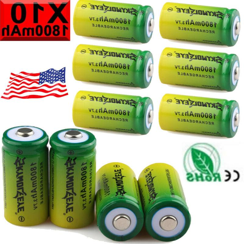16340 CR123A Battery Rechargeable 4Slot USB Chargers