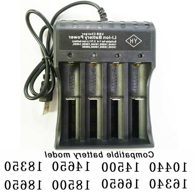 16340 CR123A Rechargeable Lithium 4Slot
