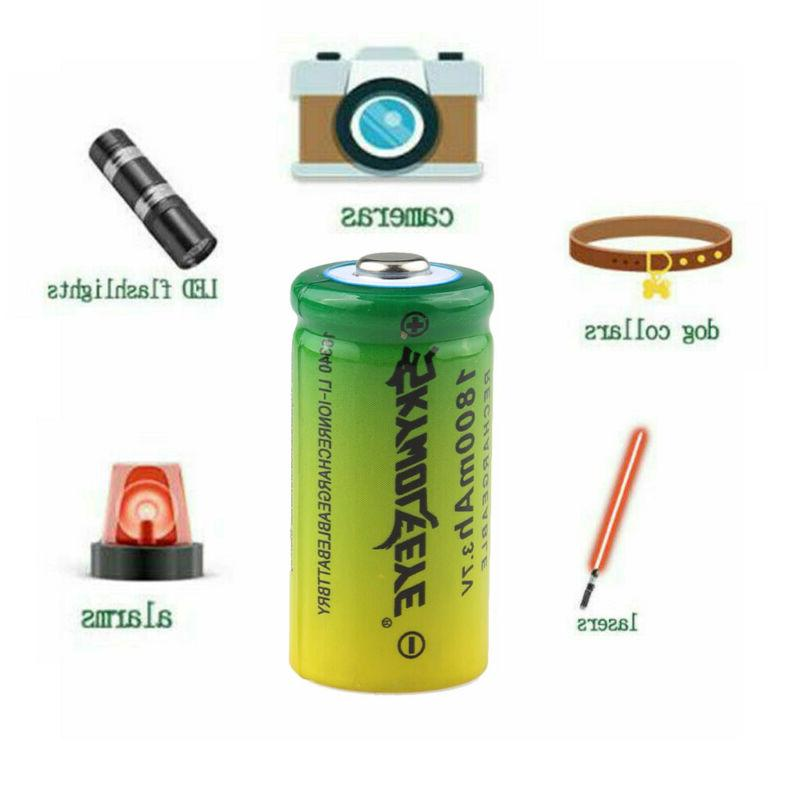 16340 Battery Rechargeable 4Slot USB