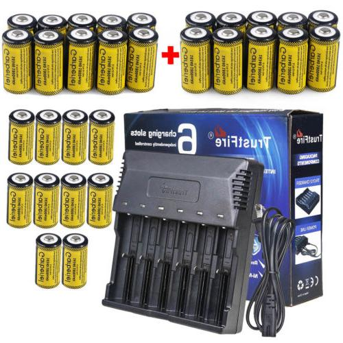 Lot CR123A Rechargeable 3.7V Li-Ion Batteries for Netgear Ar