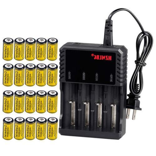 Lot 1800mAh 16340 CR123A 3.7V Battery Camera