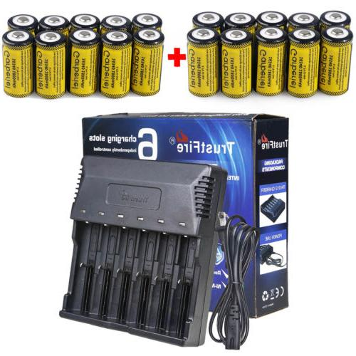 lot 1800mah 16340 cr123a 3 7v rechargeable