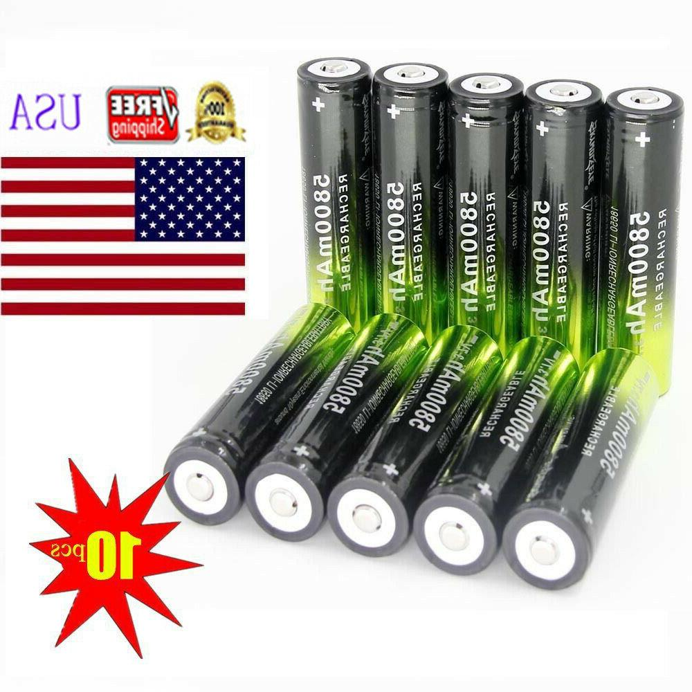 LOT 3.7V Rechargeable Battery For Torch LED Headlamp