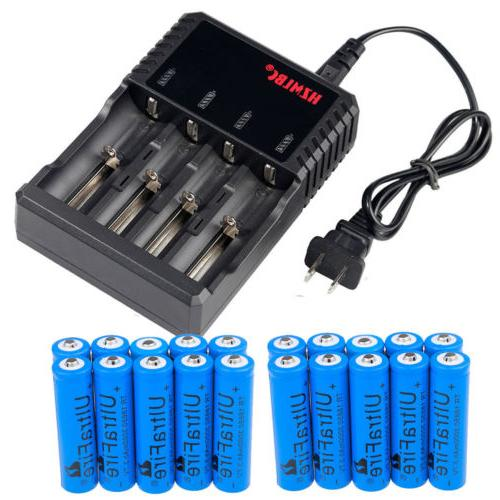Lot 3000mAh 18650 Battery 3.7V Rechargeable Batteries for LED