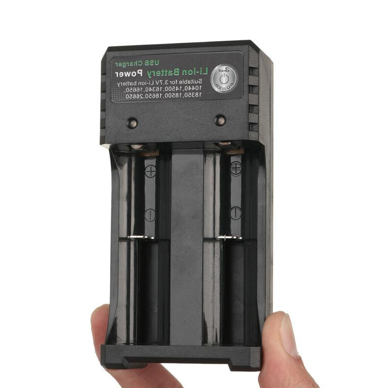 Lot 18650Battery Rechargeable Charger LED Flashlight Torch