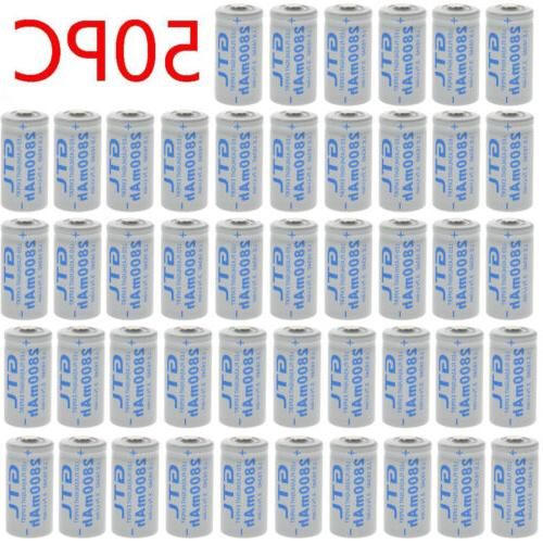 lot 2800mah cr123a 16340 battery 3 7v