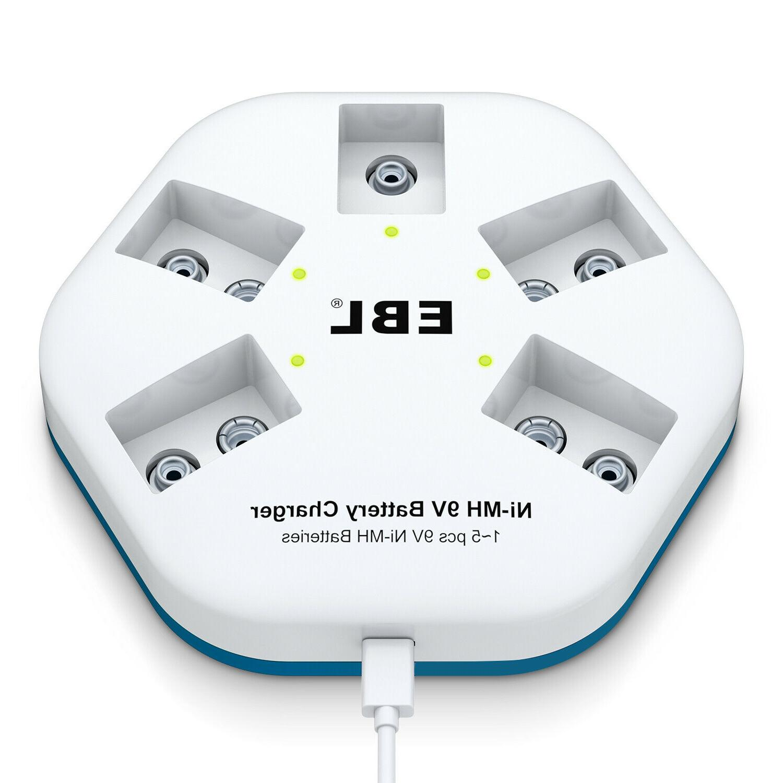 Lot EBL NIMH Rechargeable Battery 9V