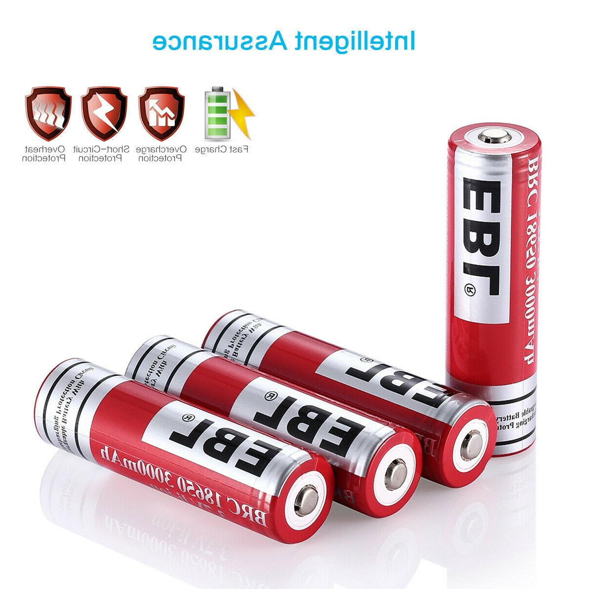 EBL 3.7V Rechargeable For Flashlights Torch Box