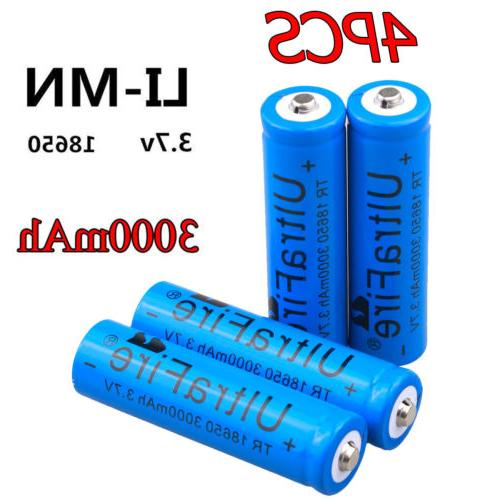 Lot Rechargeable 18650 For LED Flashlight