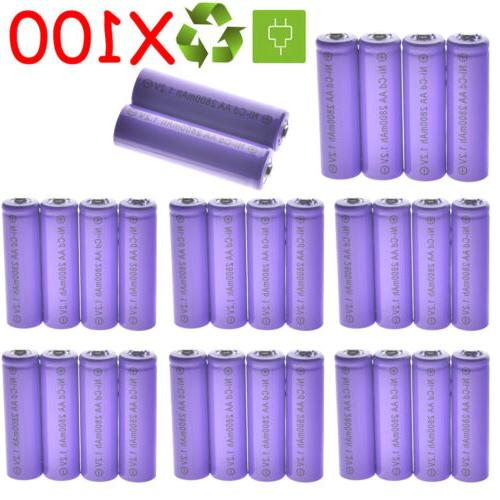 lot 4 100x aa rechargeable batteries nicd