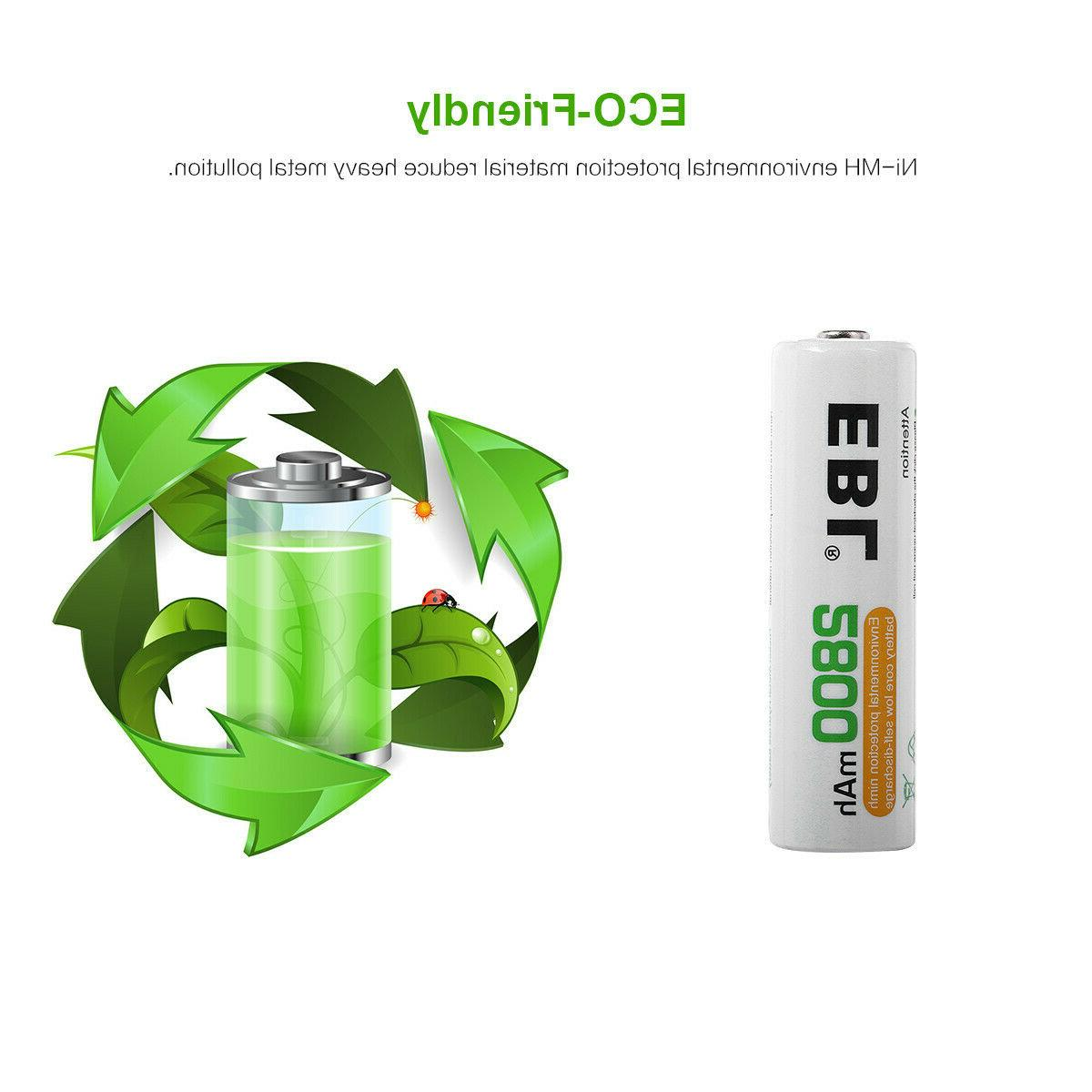Lot EBL AA C 9V Volt Rechargeable