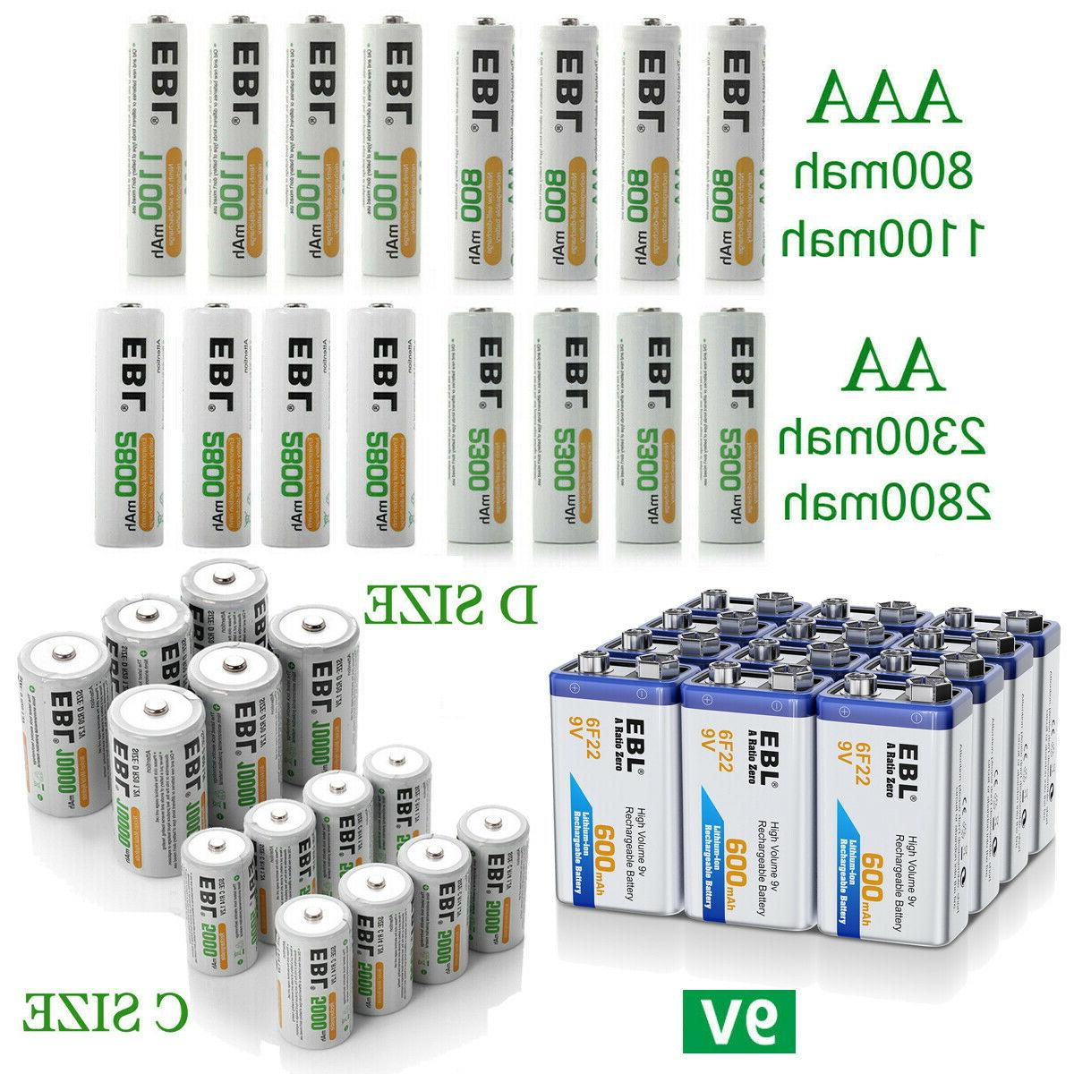 lot aa aaa c d size battery