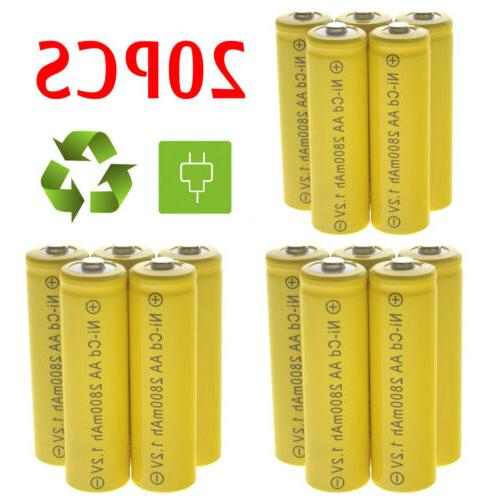 lot aa rechargeable battery nicd 2800mah 1