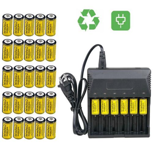 Lot Rechargeable CR123A 3.7V Li-Ion Batteries for Netgear Ar