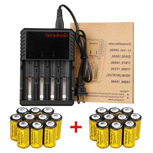 20PCS Rechargeable CR123A Batteries 3.7V for Netgear Arlo Camera