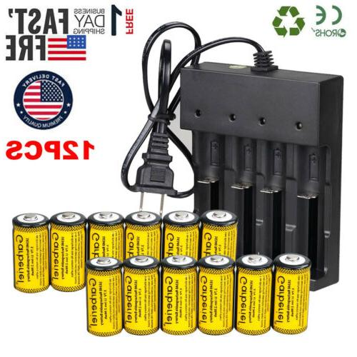 Lot Rechargeable Batteries 3.7V Li-Ion CR123A for Netgear Ar