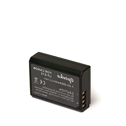 Opteka LP-E10 Battery Pack Canon EOS 1100D 1200D X50