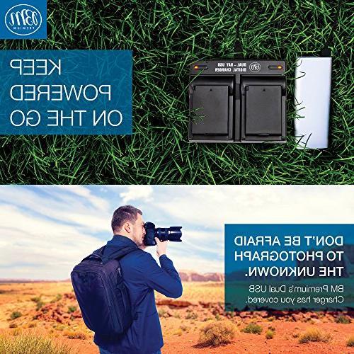 BM Premium LP-E12 Batteries and USB Dual Battery Canon EOS EOS EOS Cameras