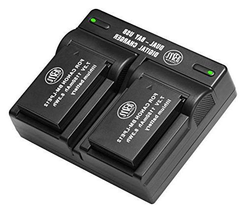 lp e12 batteries usb dual