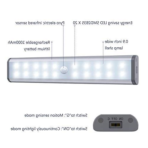 Motion MOSTON LED Wireless Under Cabinet Built-in Rechargeable Battery, Stairs