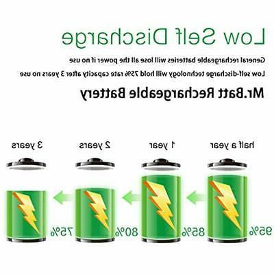 Mr.Batt NiMH Rechargeable Batteries 1600mA Audio