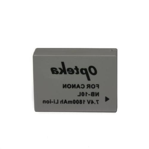 Opteka 1800mAh High Pack for PowerShot SX50HS SX40HS HS G16 G1