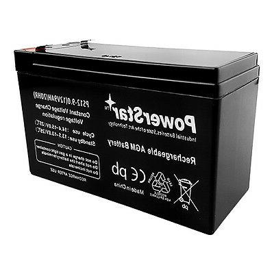 New 9AH Replaces 12V 7AH Sealed Rechargeable Battery For Sec
