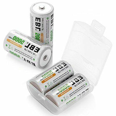 ni mh rechargeable c batteries