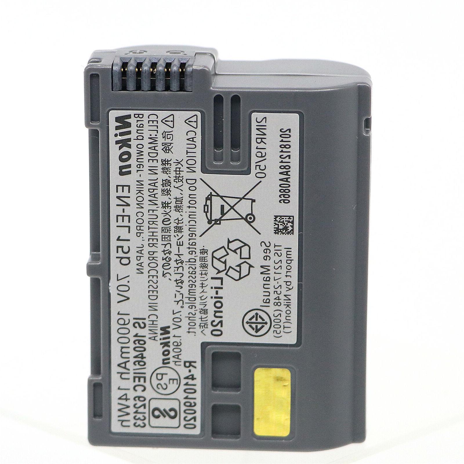 Nikon EN-EL15B Li-ion Battery Compatible with EN-EL15 EN-EL15A