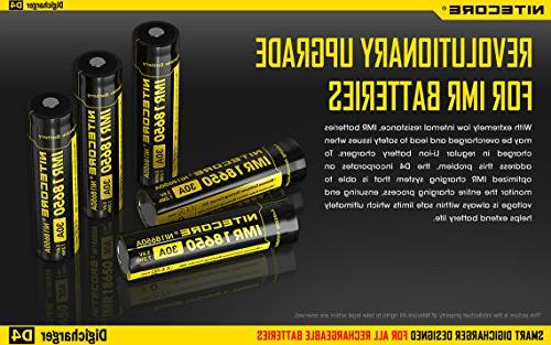 Nitecore 2015 version Display with Cable 2X AA D Battery Converter Spacers