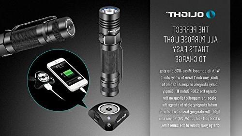 Olight S30R Lumen XM-L2 U3 LED Flashlight type battery, charging two EdisonBright back-up batteries bundle