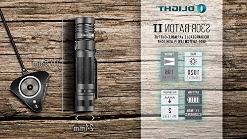 Olight S30R U3 LED with type battery, charging back-up batteries bundle