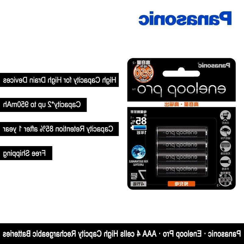 Original Panasonic <font><b>Eneloop</b></font> 4PCS/LOT <font><b>AAA</b></font> <font><b>Batteries</b></font> 1.2V 950mAh Ni-MH <font><b>eneloop</b></font> Shipping
