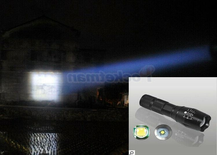 Outdoor LED Camping LED Light Flashlight 18650 Battery