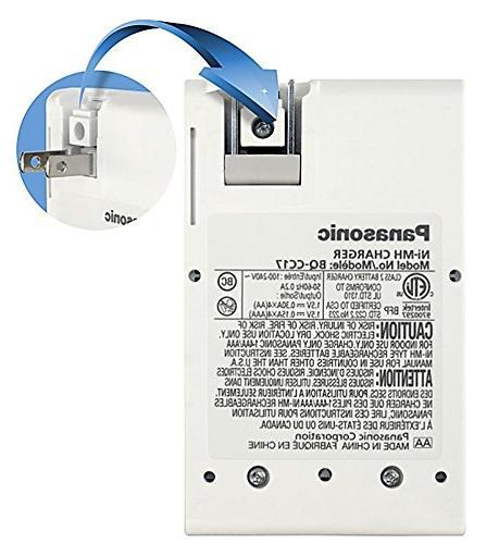 Panasonic K-KJ17MC124A eneloop Power Pack 12AA, 2 C Adapters, D Adapters, Individual Battery Storage Case