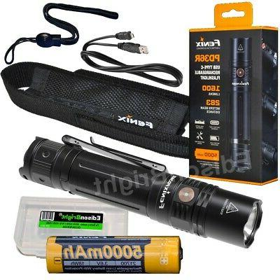 pd36r 1600 lumen edc led usb rechargeable