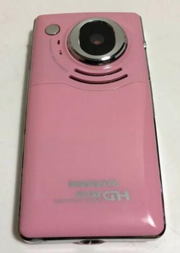 pink hd720p digital camcoder rechargeable battery 8g