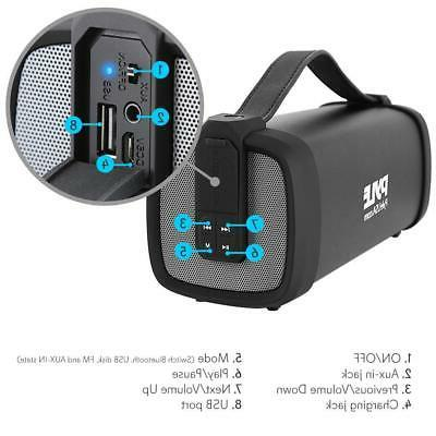 Portable Wireless Rechargeable Battery,FM Radio,USB