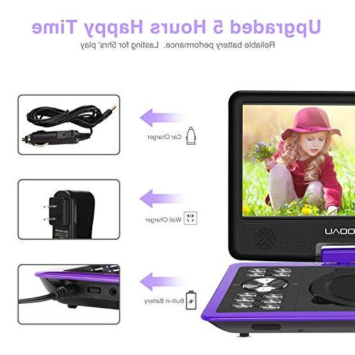 """COOAU Player with Hour Rechargeable Game 9.5"""" USB Card, Free,"""
