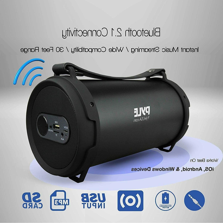 Pyle Portable Bluetooth Rechargeable Battery, Surrou