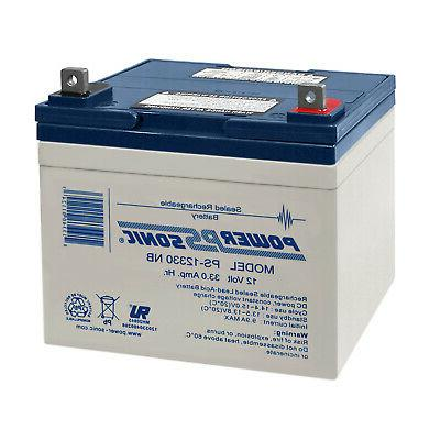 power sonic 12v 33ah sla replacement battery