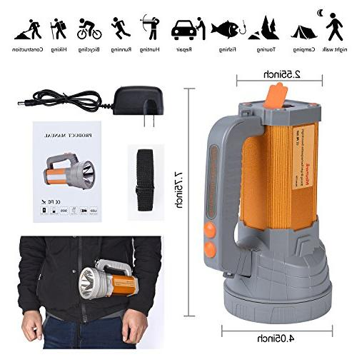 Rechargeable LED Spotlight High Searchlight Large Long Floodlight Work Light Camping USB Charge