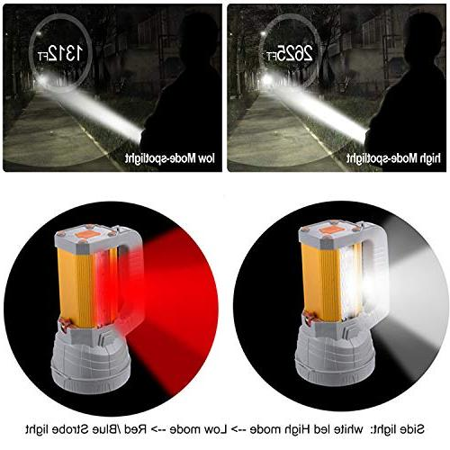 High Rechargeable Searchlight Large Battery Long Floodlight Work Light Charge