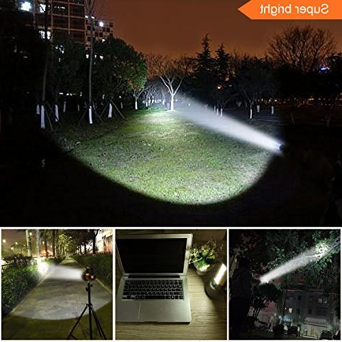 High Powered Super Bright Rechargeable Spotlight High Searchlight Large Battery Long Work Light USB Charge