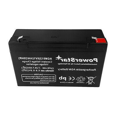 6V 12Ah 6 Volt 12 amp hour Lead UB6120 by Powerstar