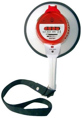 Pyle Megaphone Speaker PA Bullhorn Siren Jack 1000 Range Football, Basketball Cheerleading Fans or for Safety - PMP48IR
